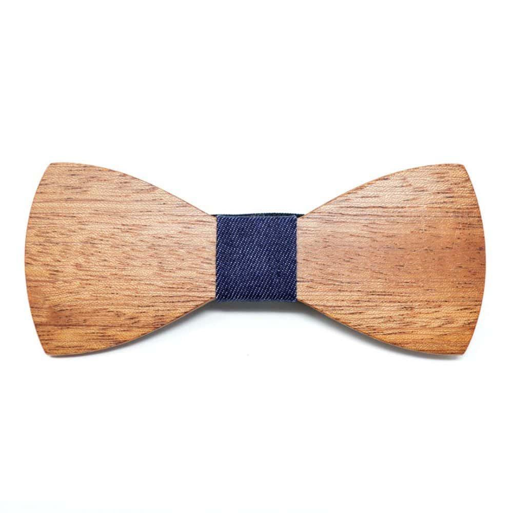 Pajarita de madera Bluenote