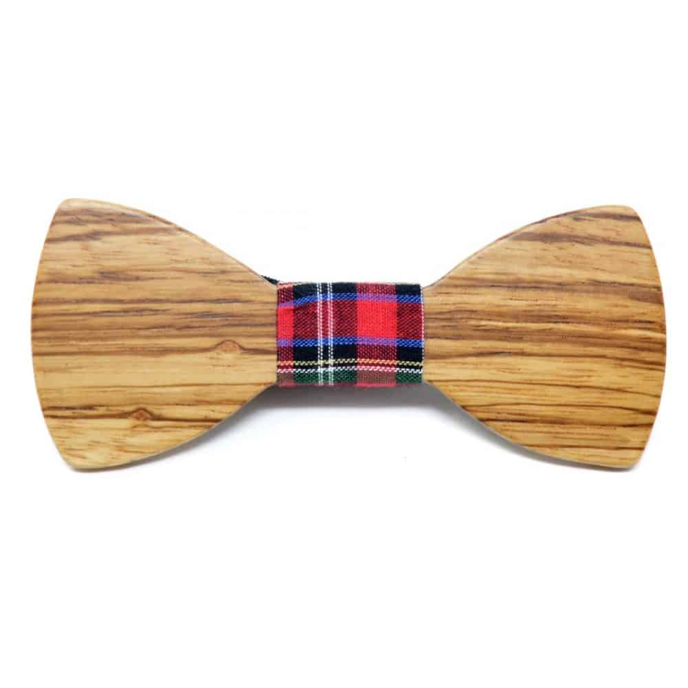 Pajarita madera detalle escocés