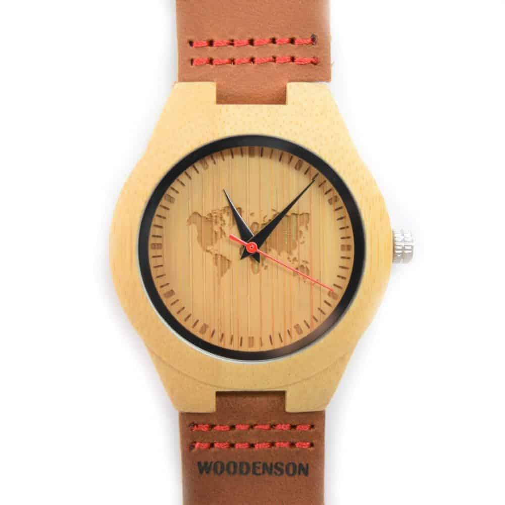 Reloj de pulsera de bambú Deva