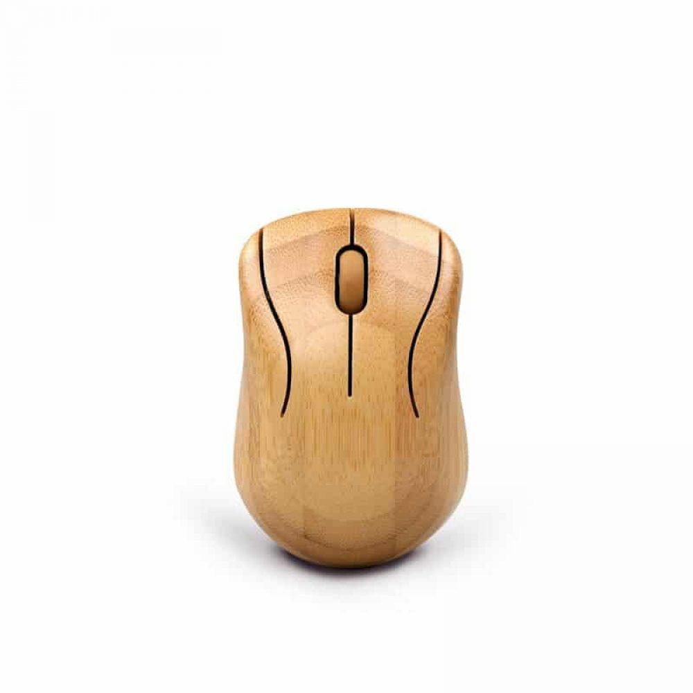 Teclado de madera y ratón de madera