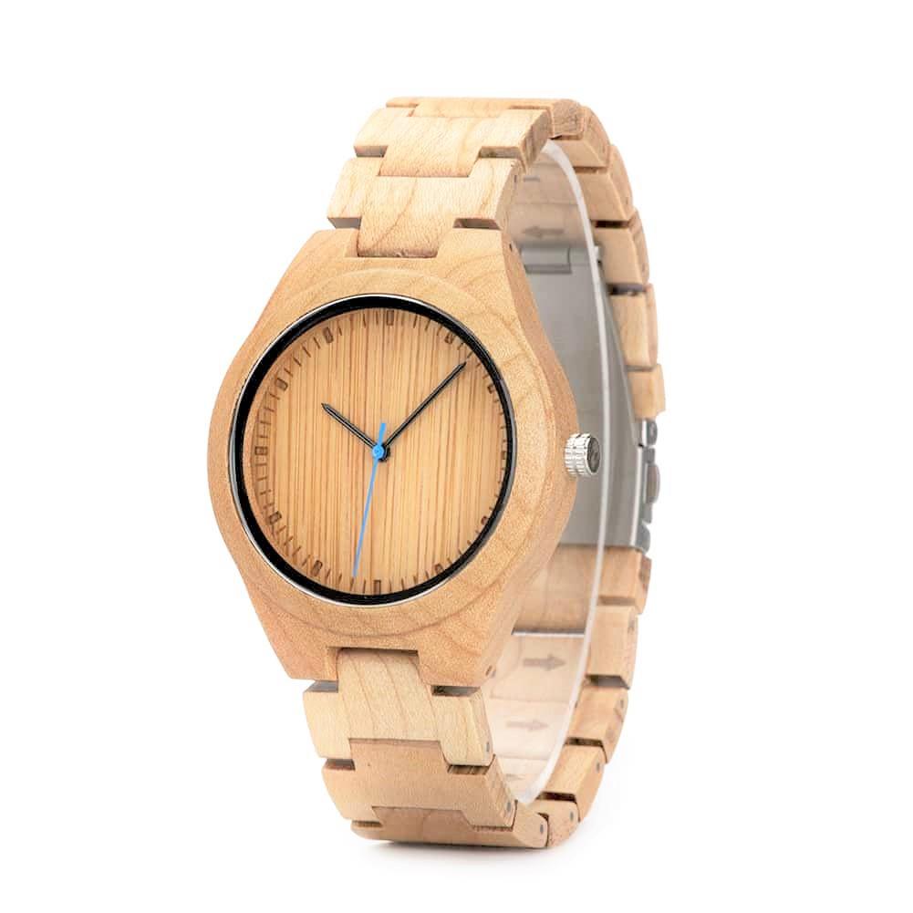 95c0e61961d4 Reloj de madera de pulsera articulada Shine - Woodenson