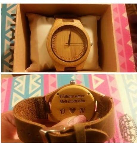 regalo original: un reloj de madera