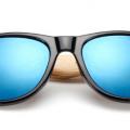 gafas madera negro cristal azul 11