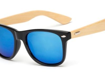 gafas madera negro cristal azul b