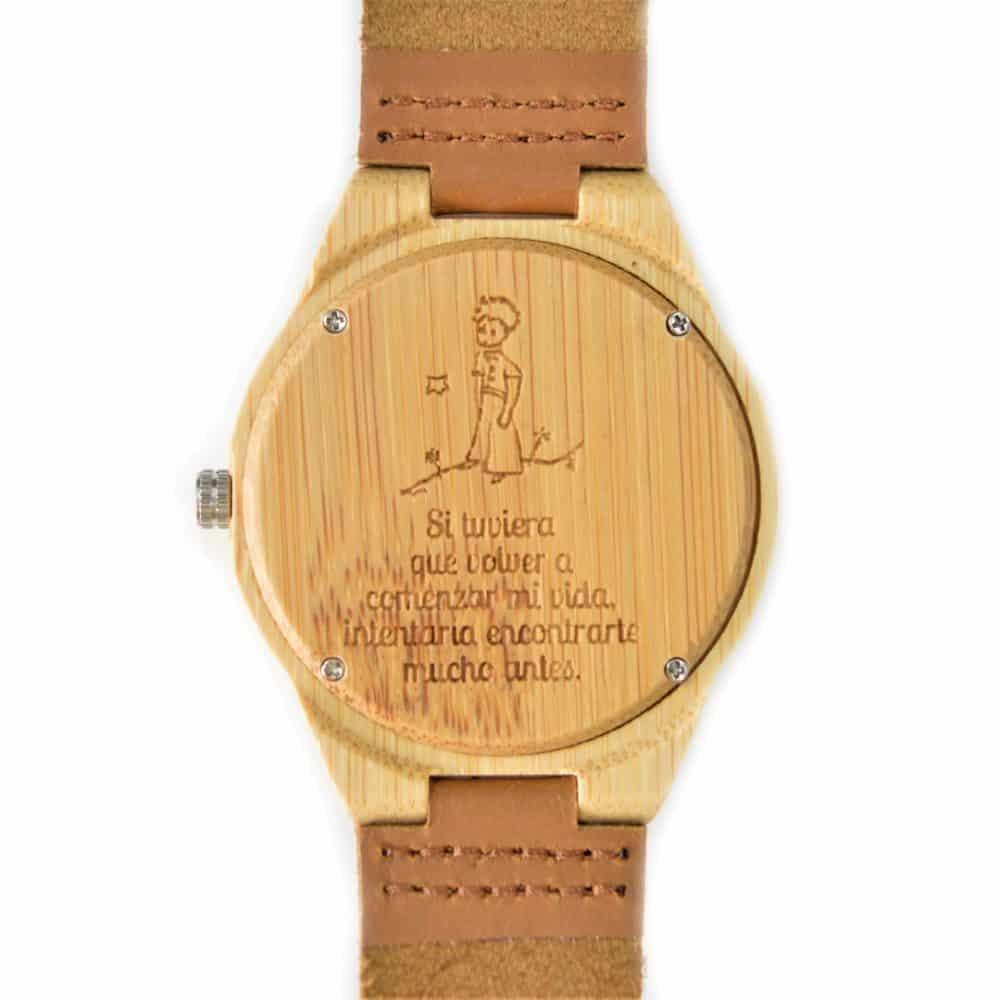 Reloj de madera de bambú modelo Bardot