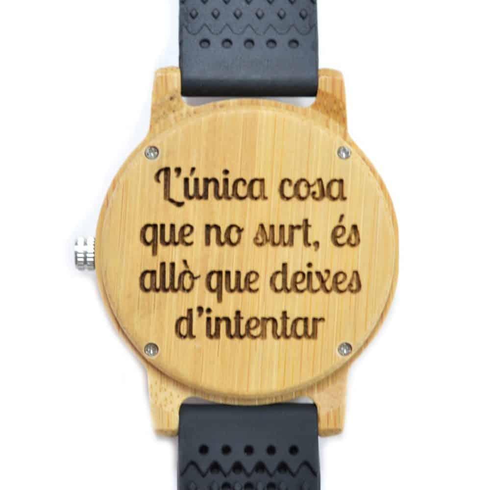 Reloj de madera Cockney