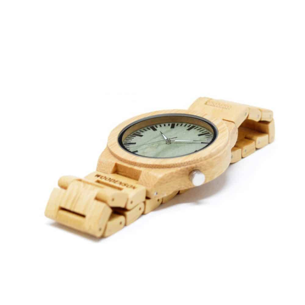 Reloj de madera de pulsera articulada Sasanoyo
