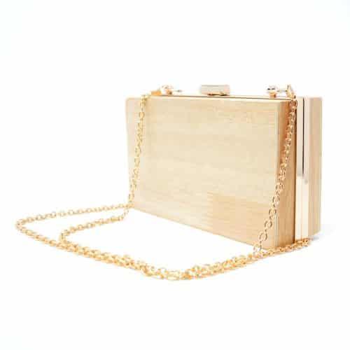 Bolso de madera rectangular modelo Renga