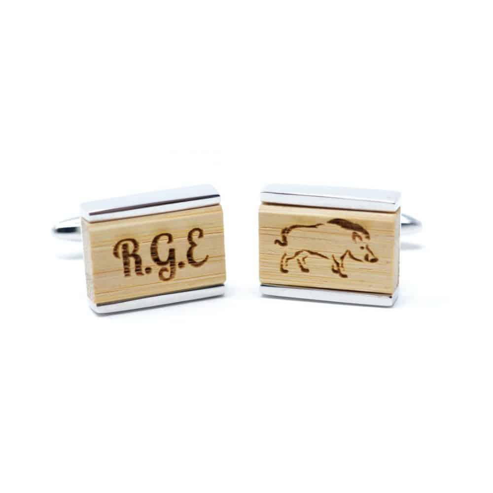 Gemelos de madera modelo Glastonbury