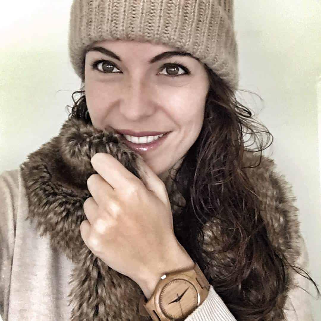 Reloj chica madera Deva