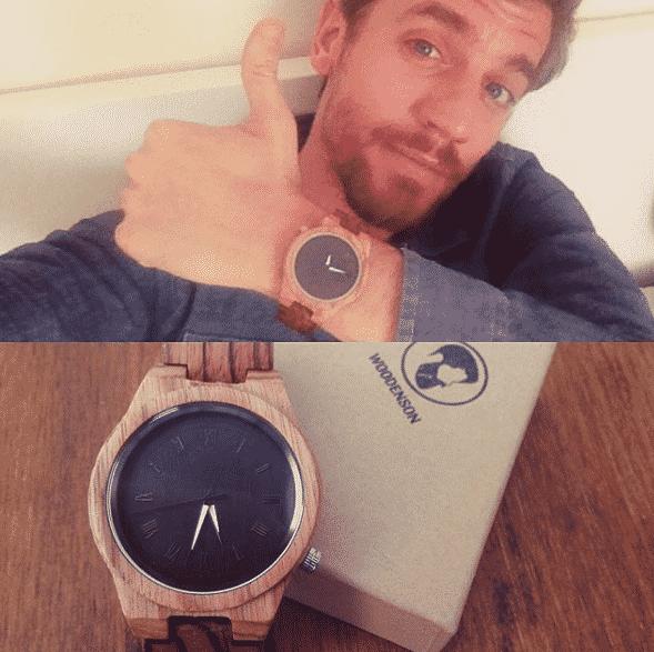 Reloj de madera articulado Gaman