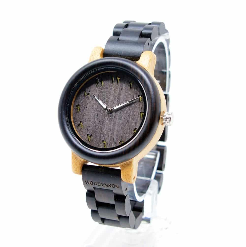 Reloj de madera articulada Kish chica
