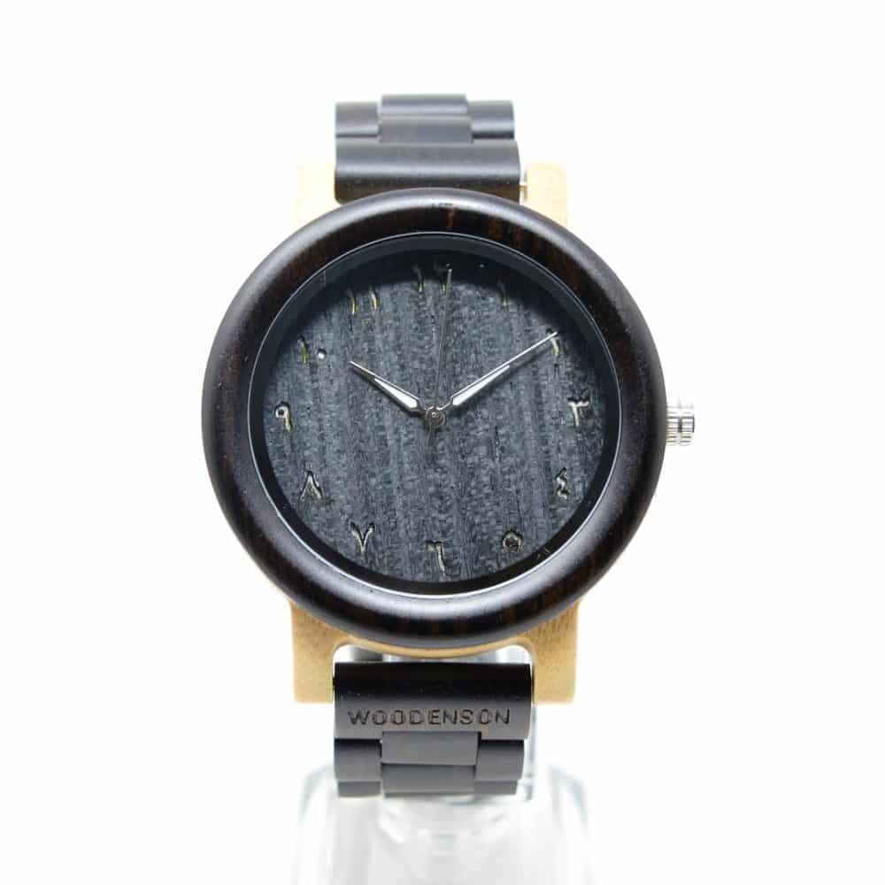 Reloj de madera articulada Kish chico