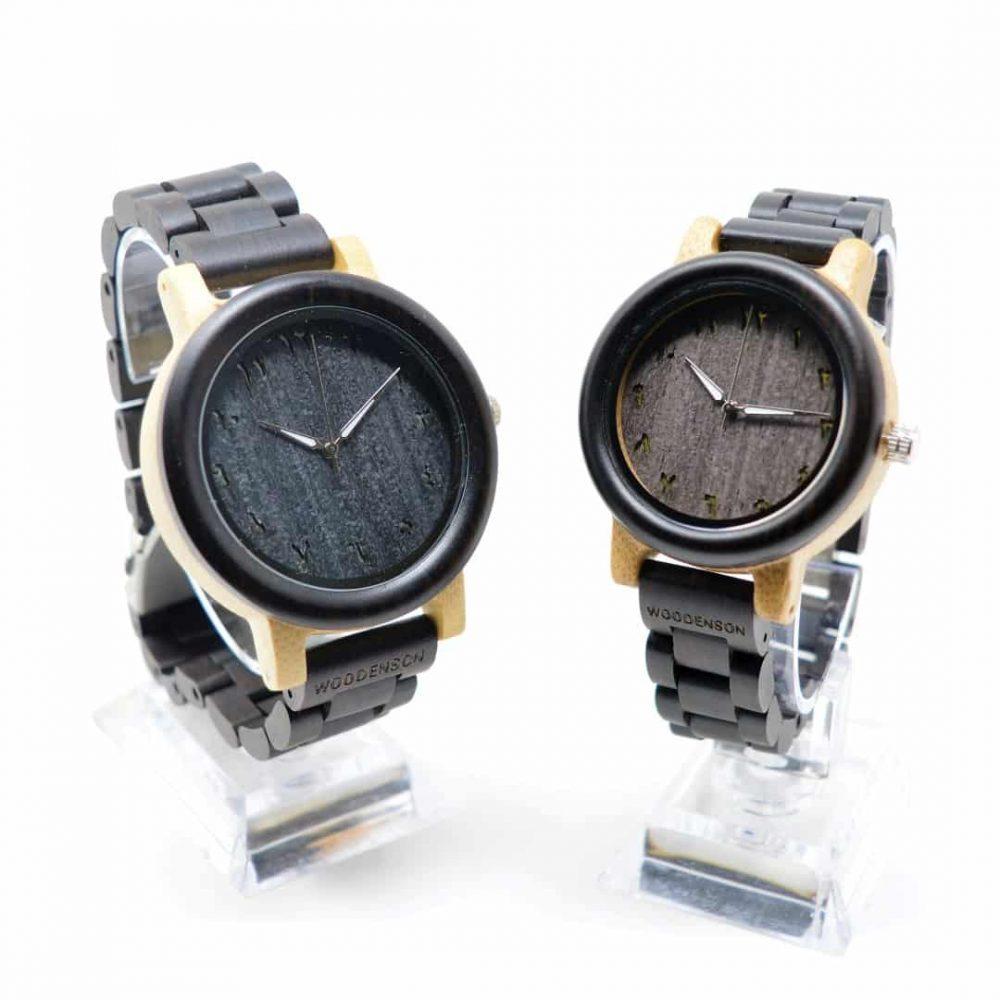 Reloj de madera articulada Kish