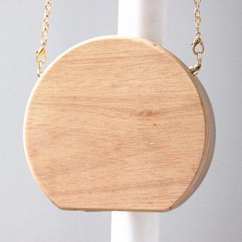 Bolso de madera tipo clutch