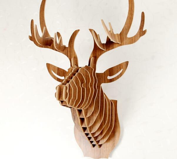 La cabeza de ciervo de madera lo ltimo en decoraci n for Cabeza de ciervo