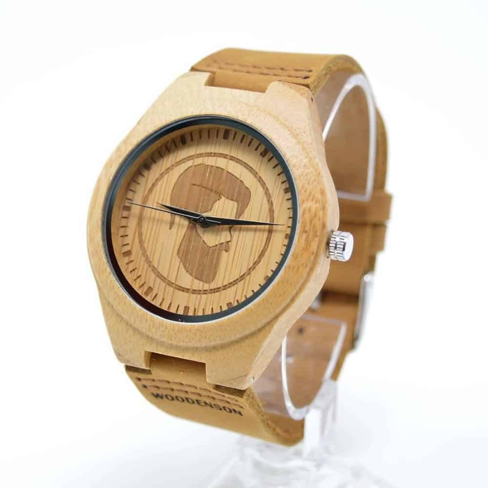 reloj madera bambú woodenson