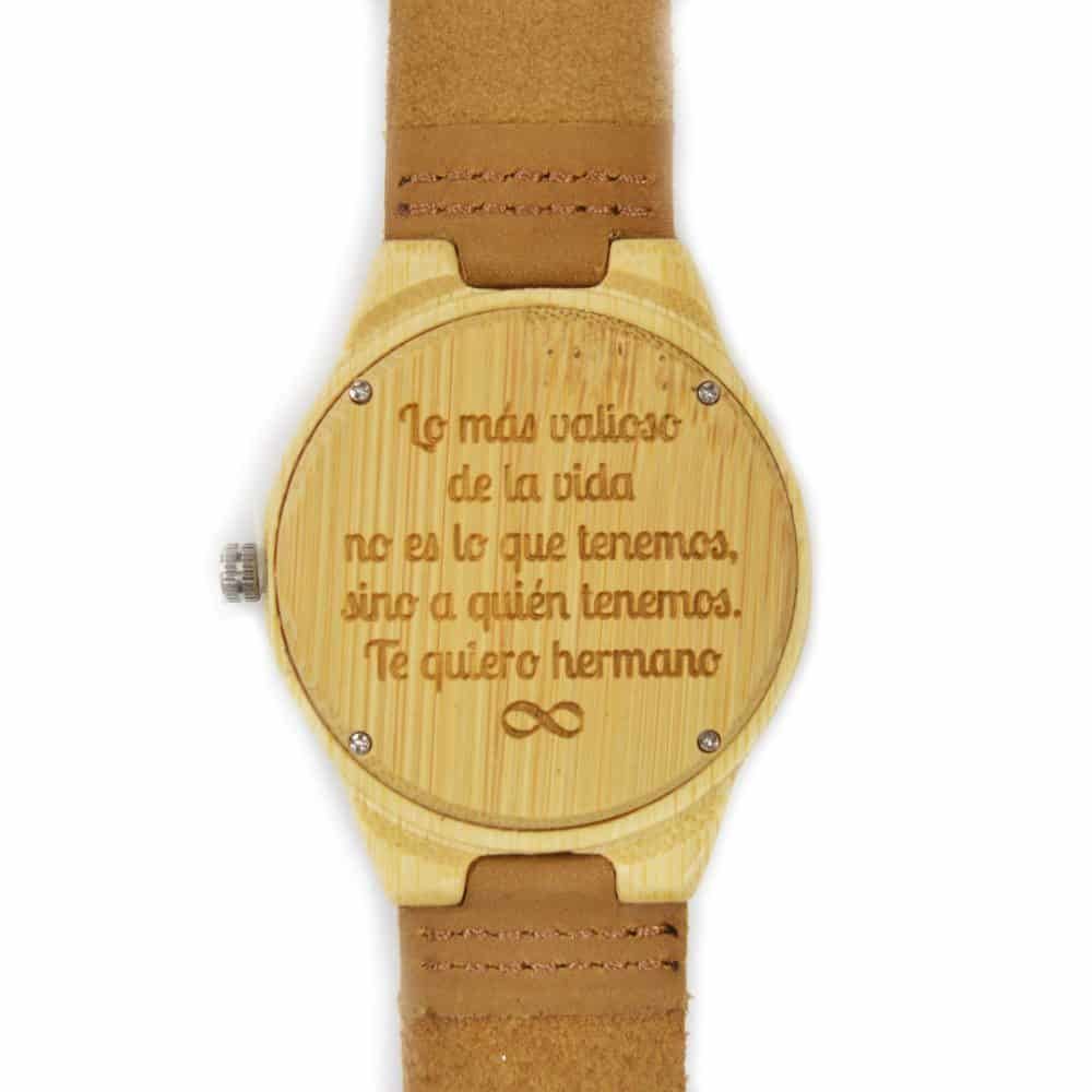 Reloj de madera con correa de serraje modelo Geyik