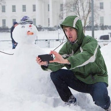 Foto-postureo en la nieve