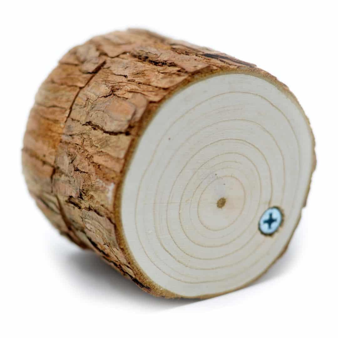 Caja de madera de pino para anillos de boda