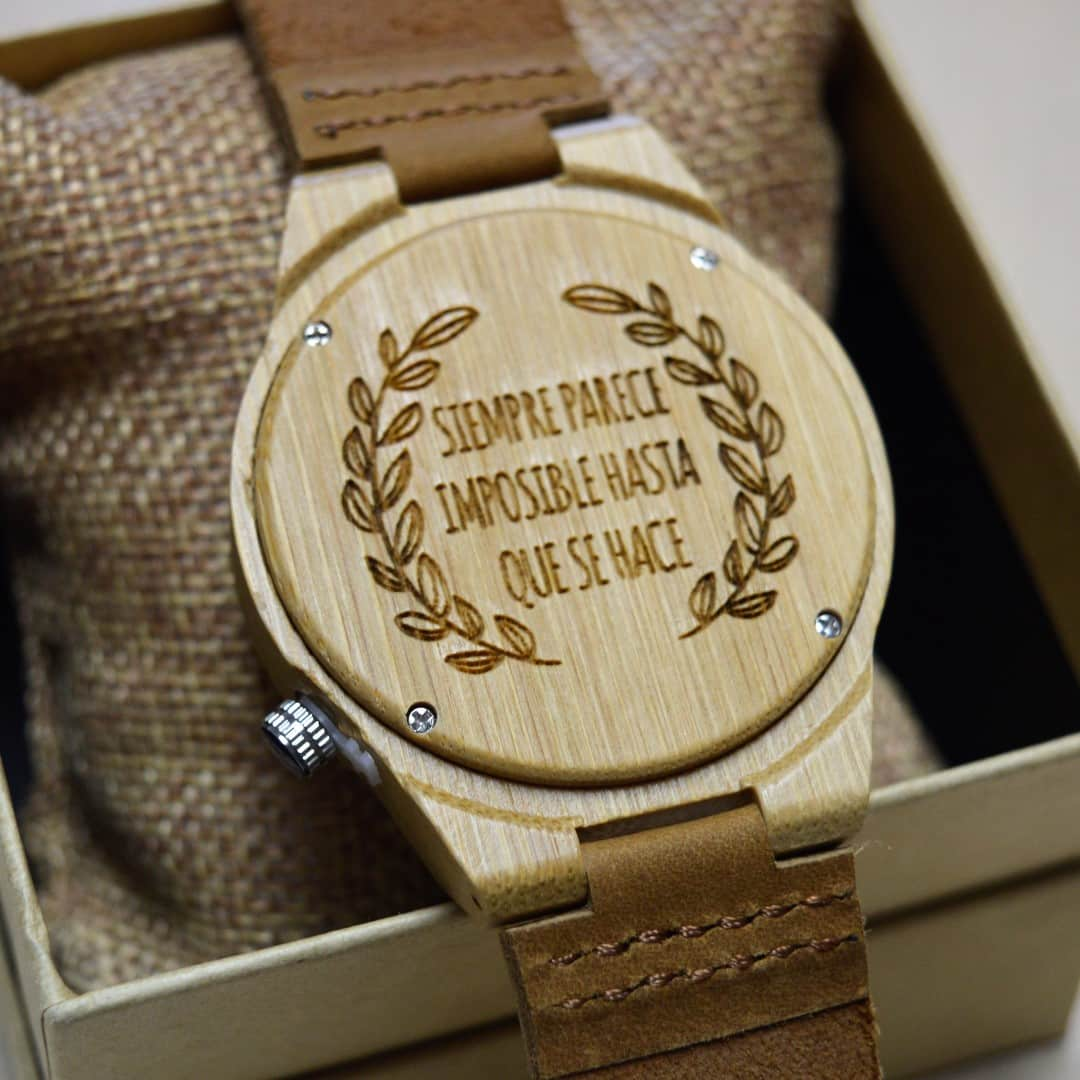 Reloj De Pulsera De Bamb 250 Deva Woodenson