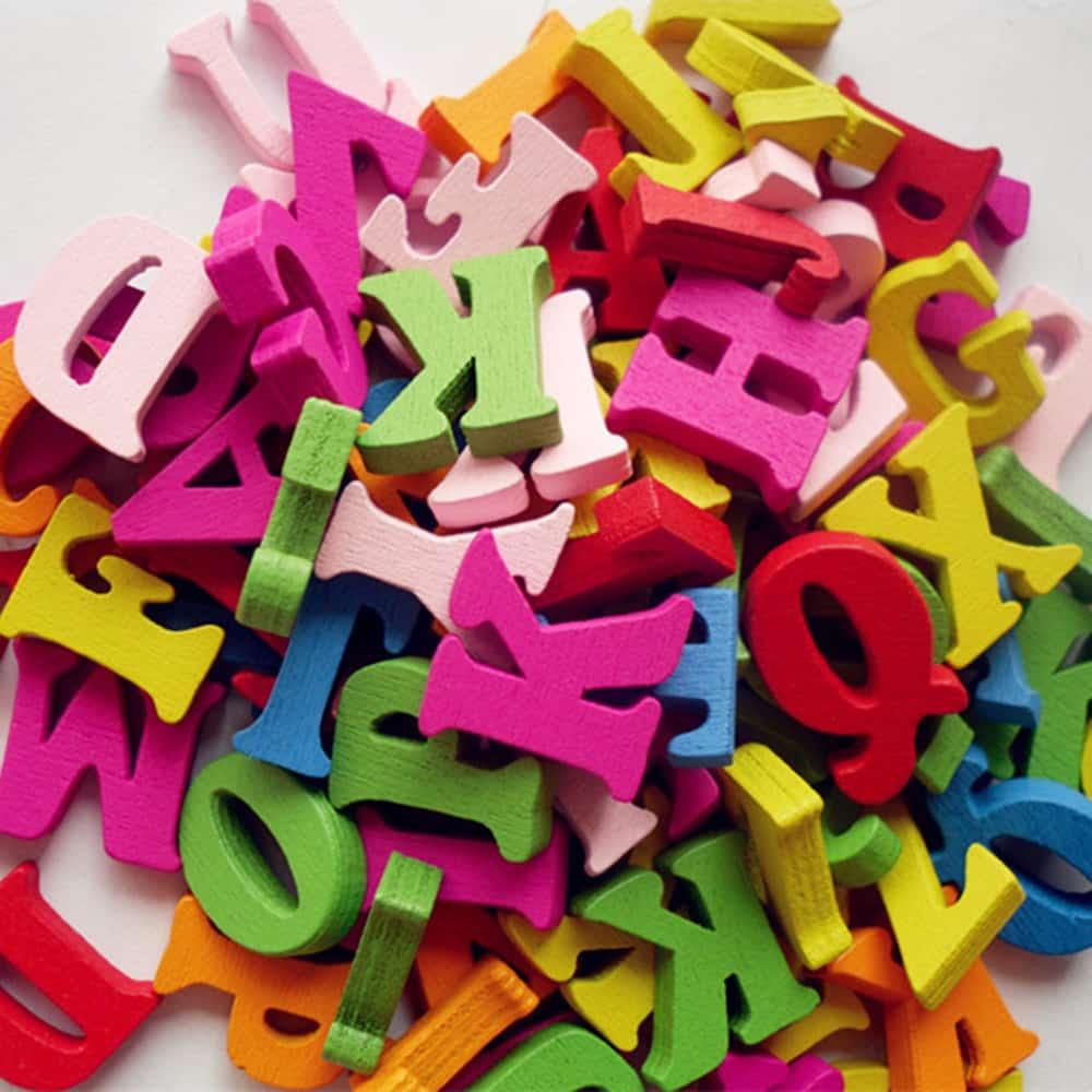 Letras de madera para decoraci n 100 unidades woodenson - Letras de madera para decorar ...