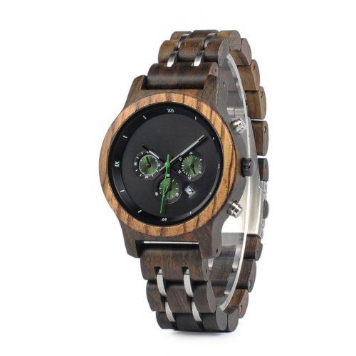 99160160205b Reloj de pulsera de madera de olivo modelo Deva - Woodenson