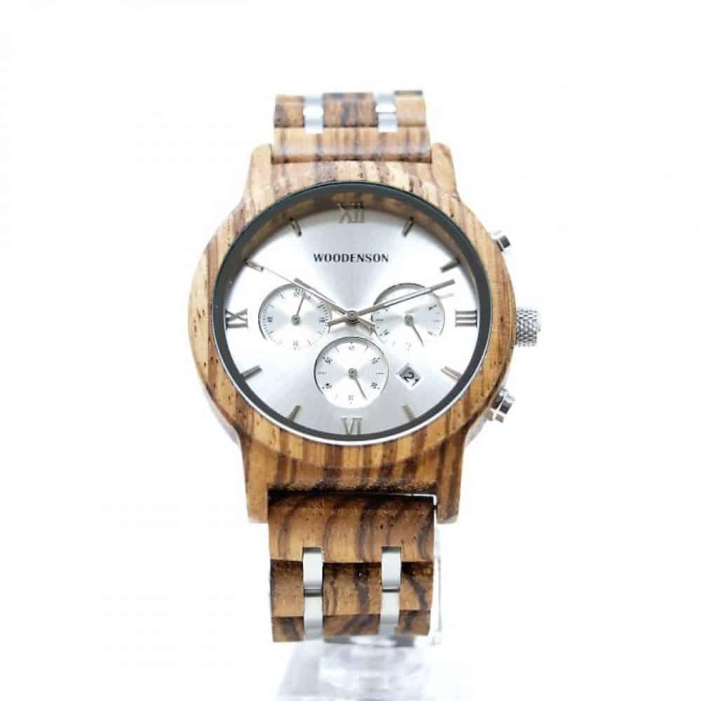 Reloj de madera y metal gris modelo Bokushi