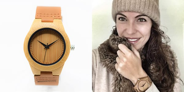 reloj madera mujer