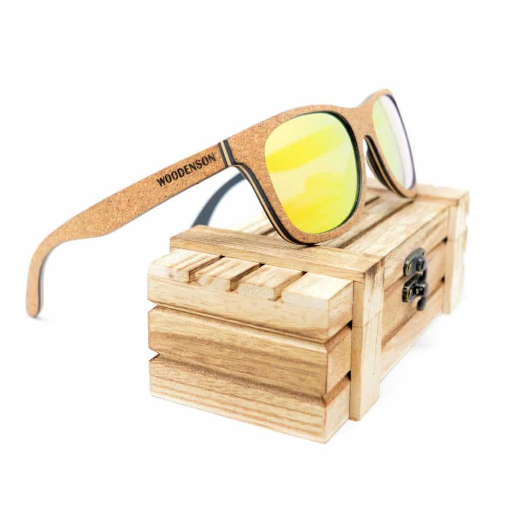 Gafas de sol de corcho y madera modelo Fukushima Heroes