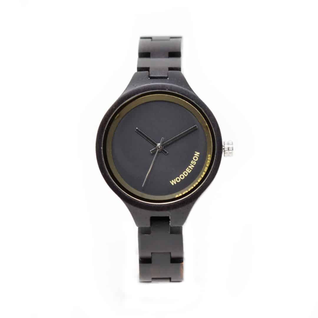 reloj de madera burakku