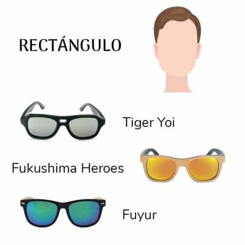 gafas cara rectangular
