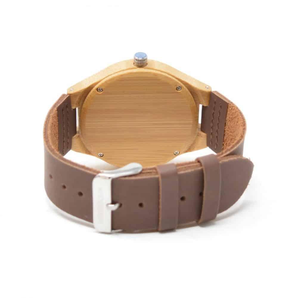 reloj de madera de bambu modelo zui