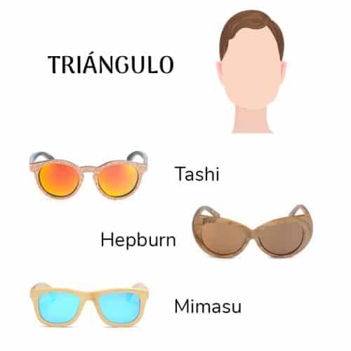 gafas cara triangulo