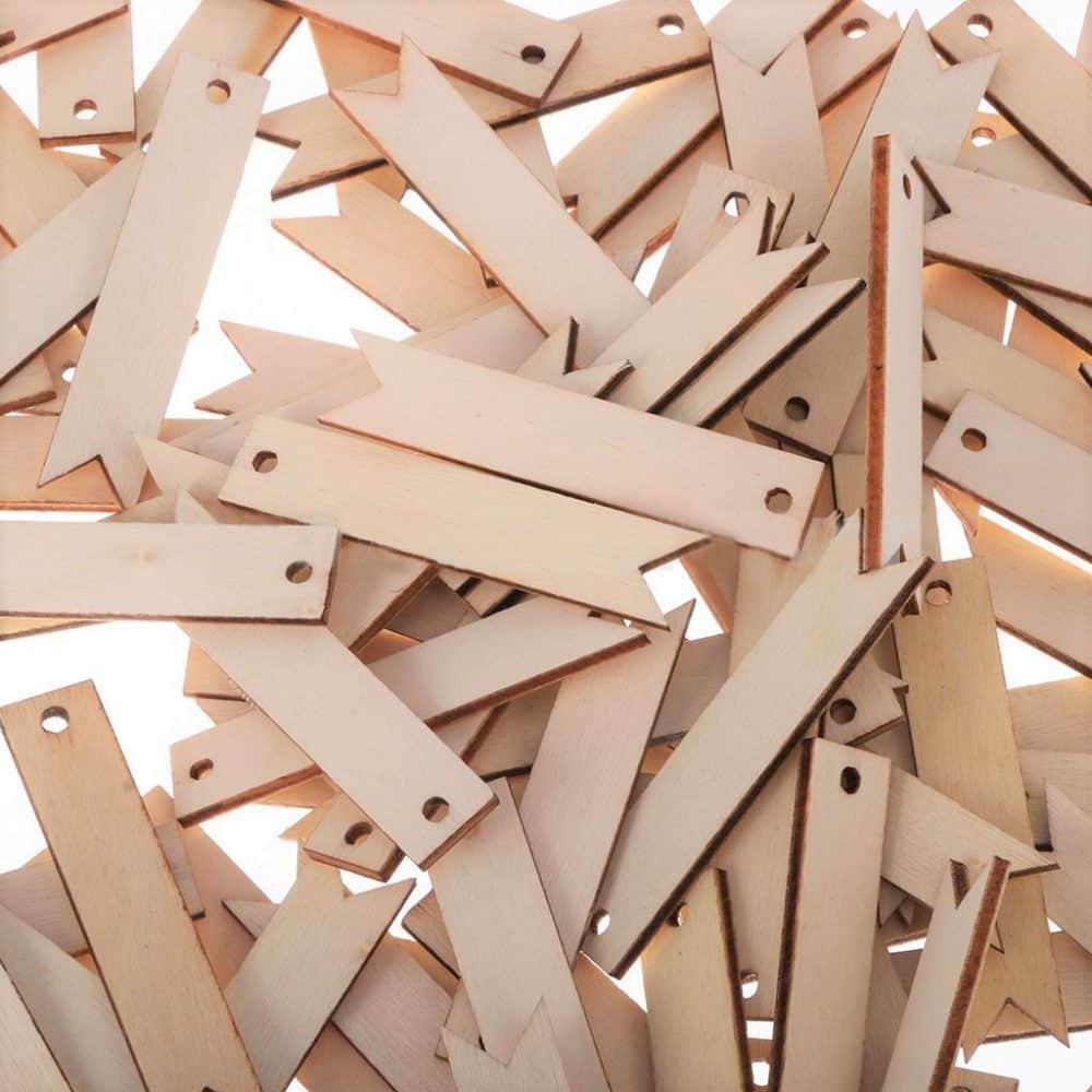 Decoración de boda de 100 colgantes de madera DIY