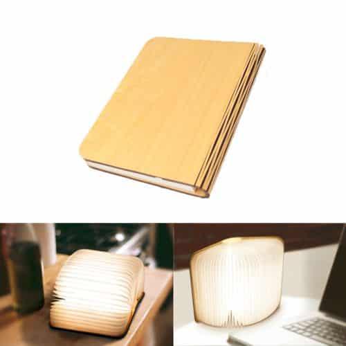 Lámpara pegable de mesa con forma de libro