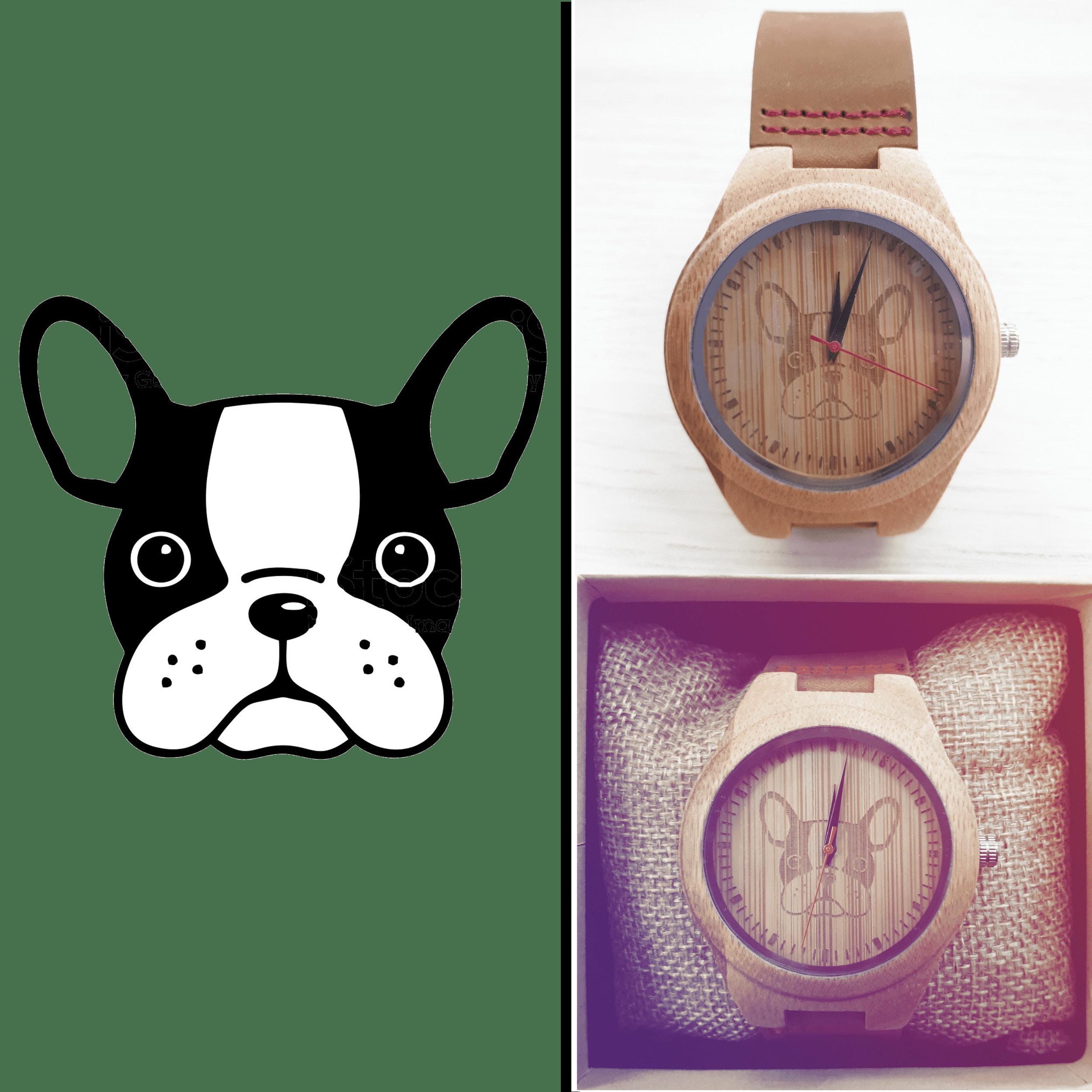 perro reloj personalizacion woodenson