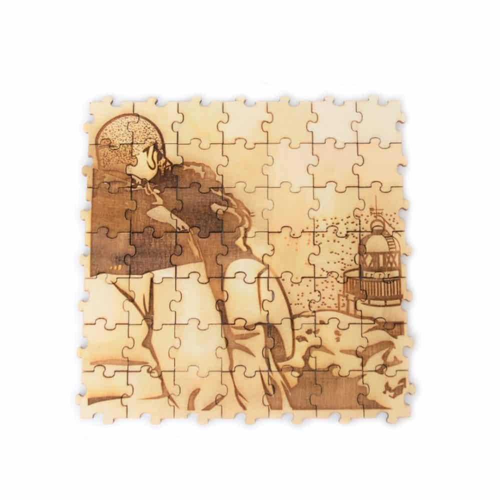 Puzzle de madera DIY de 50 unidades