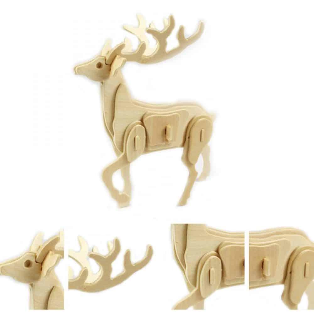 Rompecabezas de madera en 3D de animales