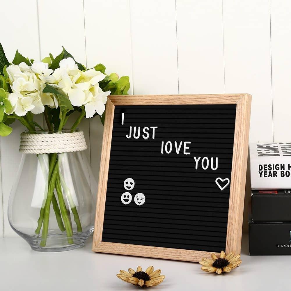 Tablón de madera y fieltro personalizable
