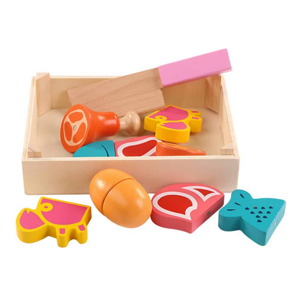 Cesta de comida de juguete con imanes