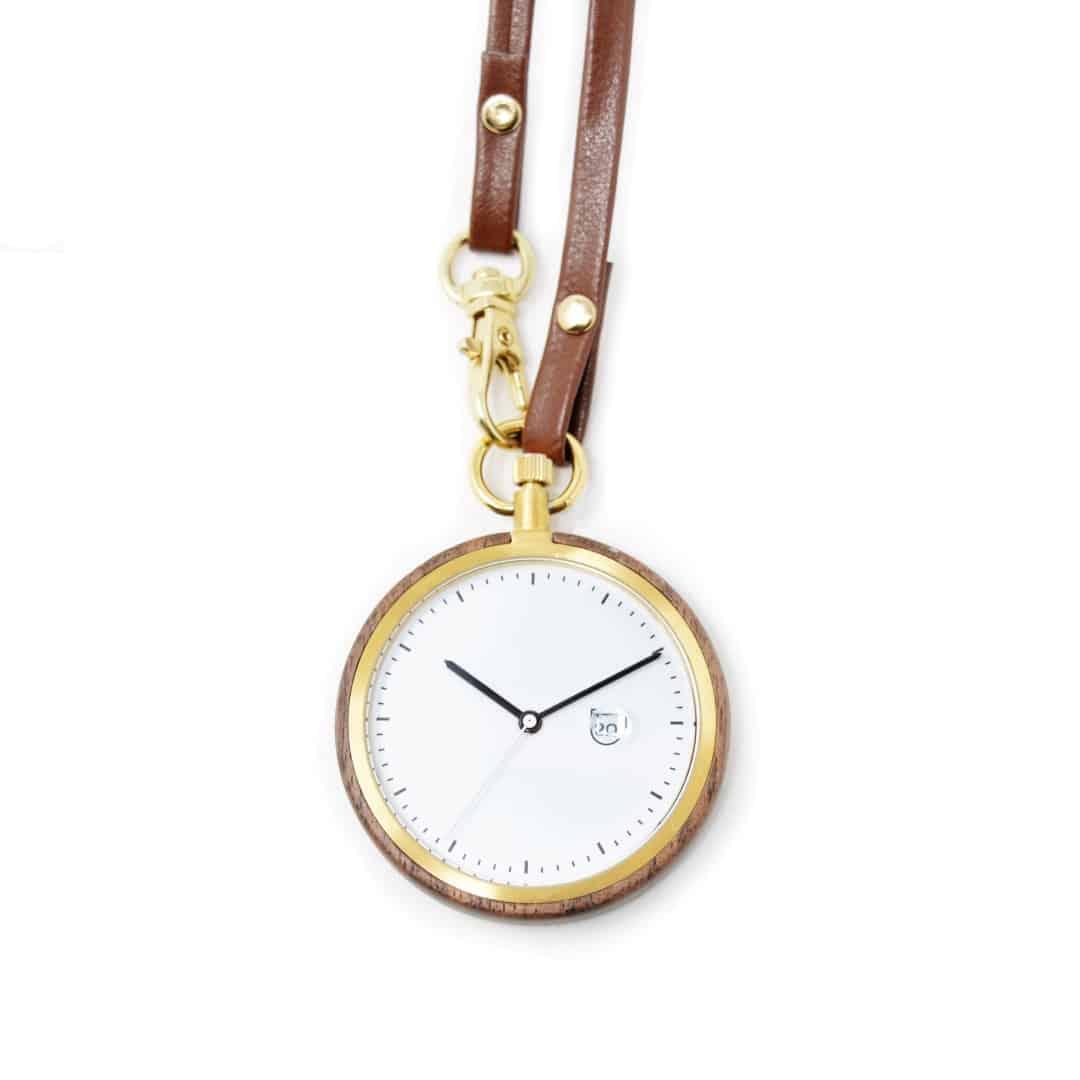 Reloj de bolsillo de madera modelo Shizou