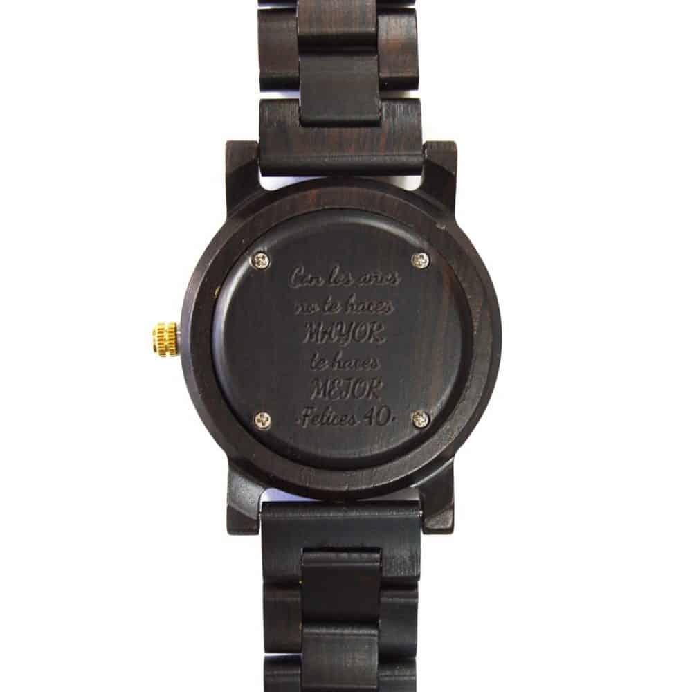 reloj de madera cox