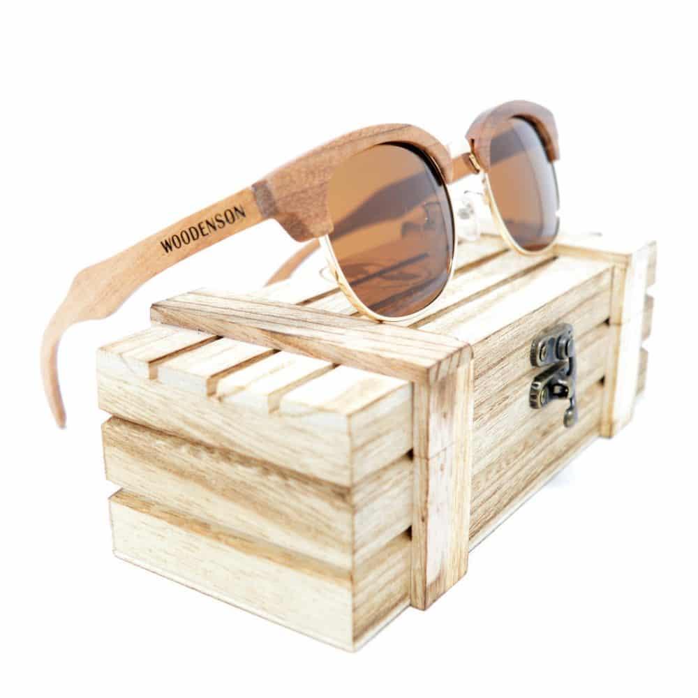 Gafas de sol de madera y metal modelo Yamashita