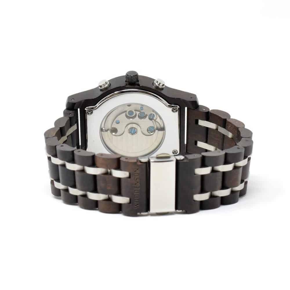 Reloj automático de madera y metal modelo Honne