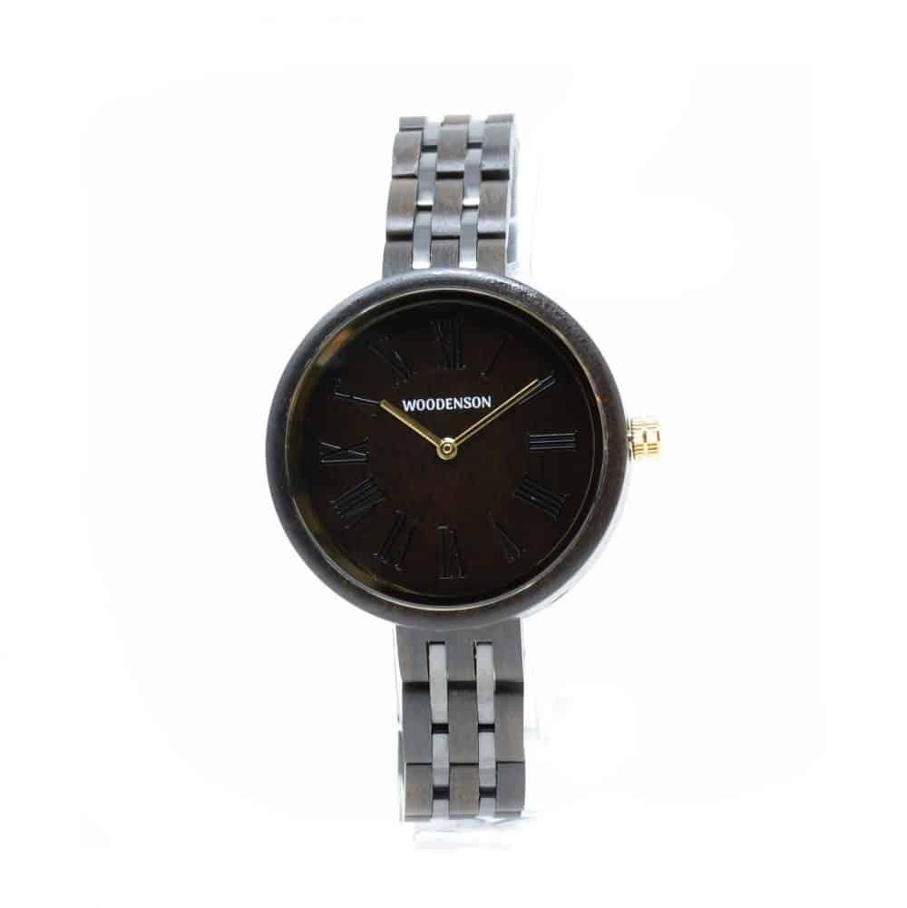 Reloj de madera y metal modelo Hokori