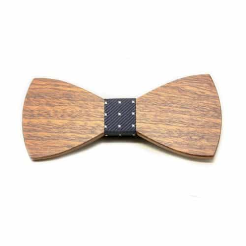 Pajarita de madera Celester