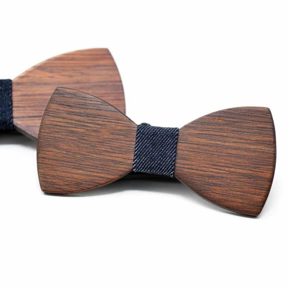 Pack pajarita de madera Father & Son