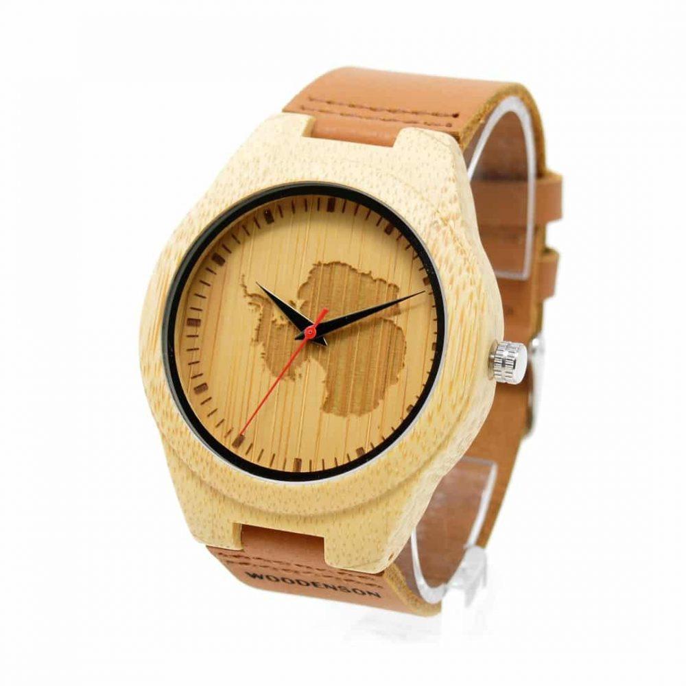 reloj de madera Antarctic
