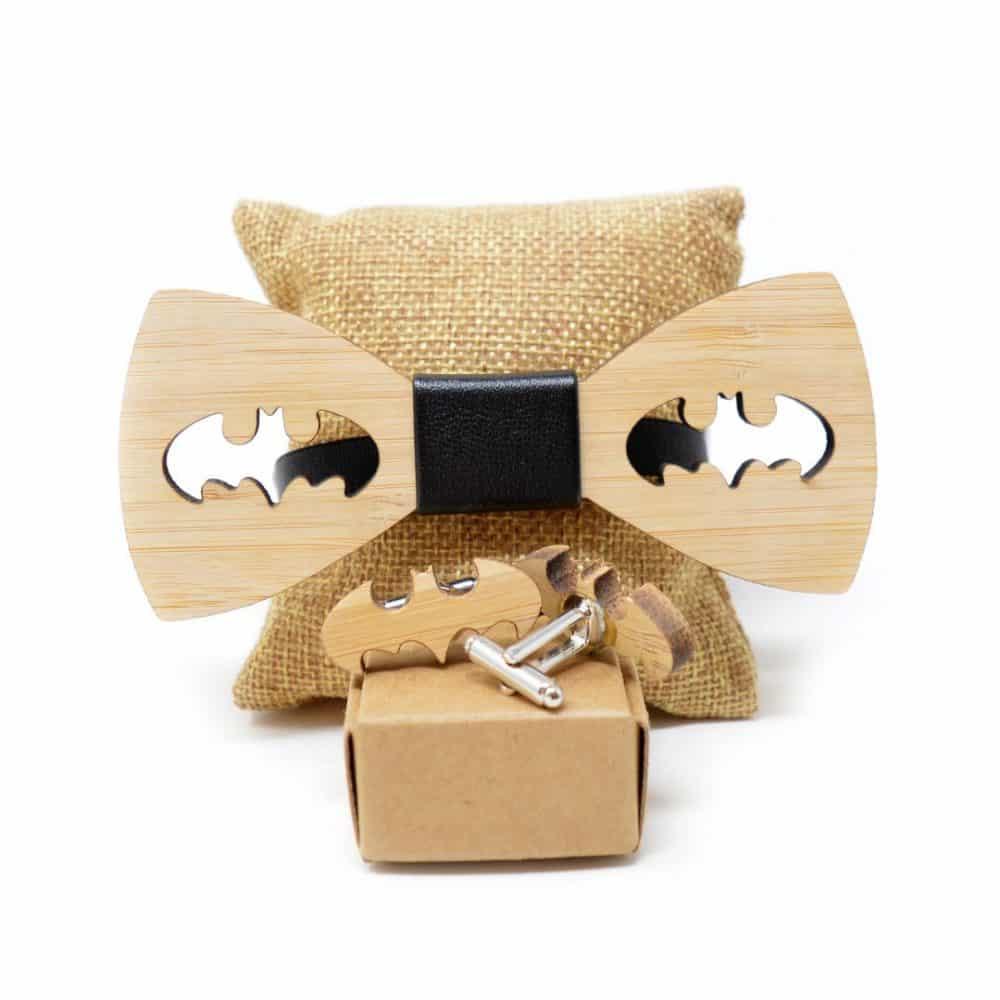 Súper pack con pajarita Batman y bat-gemelos